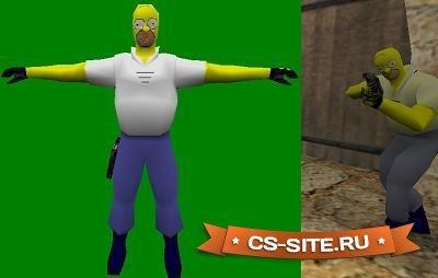 Модель Terror (T) «Homer Simpson» для CS 1.6