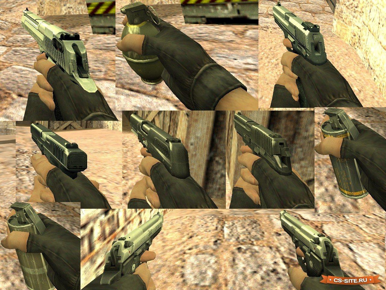 Скачать модели оружия из cs:go для cs 1. 6.