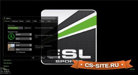 Тема меню «ESL Sports» для CS 1.6