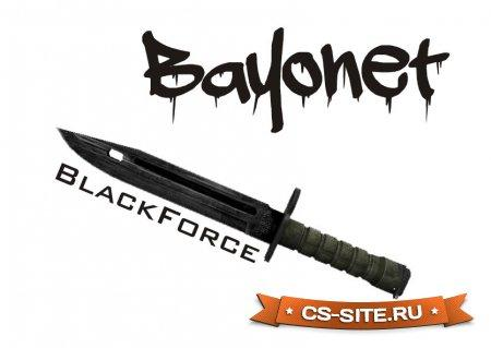 Модель ножа «Bayonet | BlackForce» для CS 1.6