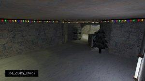 Карта De_Dust2_Xmas для CS 1.6