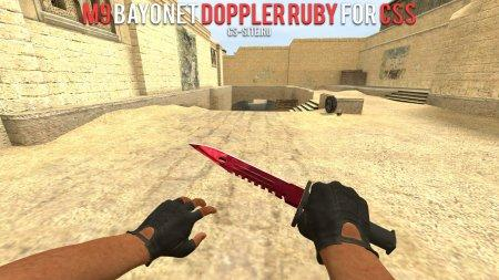 Модель M9 Bayonet «Doppler Ruby» для CSS