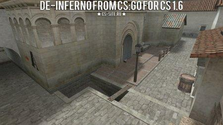 Карта De_Inferno из CS:GO для CS 1.6