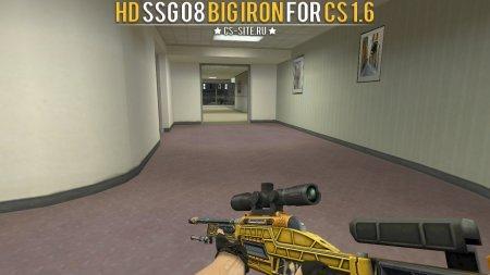 Модель HD SSG 08 «Big Iron» с анимацией осмотра для CS 1.6