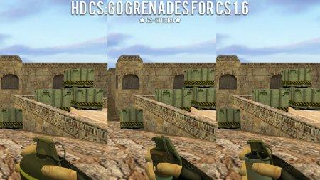 HD модели гранат из КС:ГО для КС 1.6