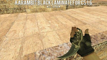 Модель ножа «Karambit | Black Laminate» для CS 1.6