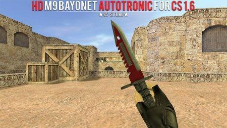 Модель ножа HD «M9 Bayonet | Autotronic» для CS 1.6