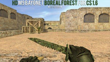 Модель ножа HD «M9 Bayonet | Boreal Forest» для CS 1.6