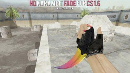 Модель ножа HD «Karambit | Fade» для CS 1.6