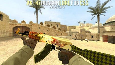 Модель AK-47 «Dragon Lore» для CSS