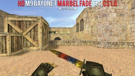 Модель ножа HD «M9 Bayonet | Marble Fade» для CS 1.6