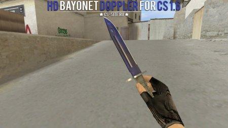 Модель ножа HD «Bayonet | Doppler» для CS 1.6