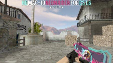 Модель HD MAC-10 «Neon Rider» для CS 1.6