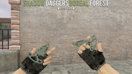 Модель ножа «Shadow Daggers | Boreal Forest» для CS 1.6