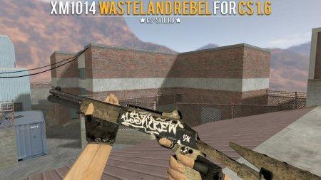 Модель XM1014 «Wasteland Rebel» с анимацией осмотра для CS 1.6