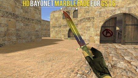 Модель ножа HD «Bayonet   Marble Fade» для CS 1.6