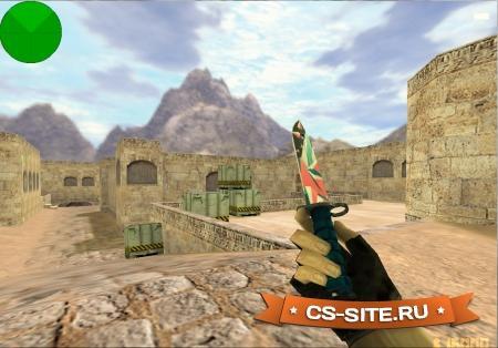 Модель ножа Bayonet «Буйство Красок» с анимацией осмотра для CS 1.6