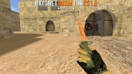 Модель ножа Bayonet «БАХ» с анимацией осмотра для CS 1.6