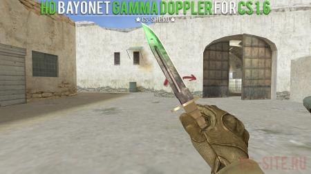 Модель ножа HD Bayonet «Gamma Doppler» для CS 1.6