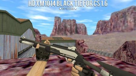 Модель HD XM1014 «Black Tie» с анимацией осмотра для CS 1.6