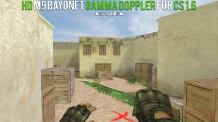Модель ножа HD «M9 Bayonet | Gamma Doppler» для CS 1.6