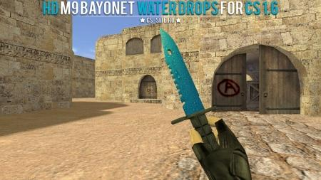 Модель ножа HD «M9 Bayonet | Water Drops» для CS 1.6