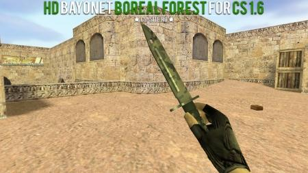 Модель ножа HD «Bayonet   Boreal Forest» для CS 1.6