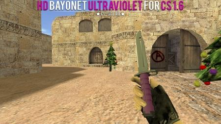 Модель ножа HD «Bayonet | Ultraviolet» для CS 1.6