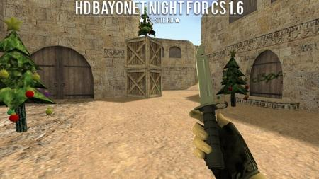 Модель ножа HD «Bayonet | Night» для CS 1.6