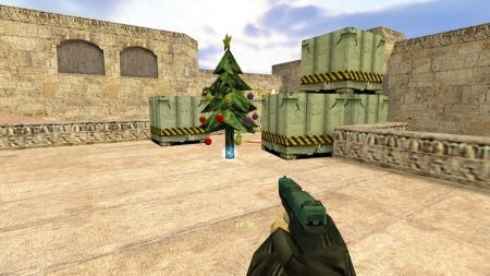 Плагин «Новогодняя ёлка вместо бомбы» для CS 1.6