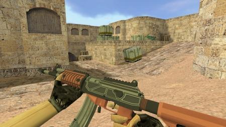 Модель HD Galil «Fire Fight» с анимацией осмотра для CS 1.6