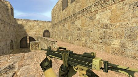 Модель HD Negev «Пустынная атака» с анимацией осмотра для CS 1.6
