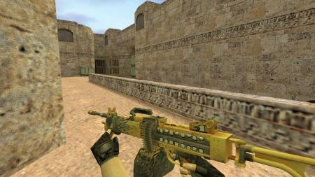 Модель HD Negev «Крикун» с анимацией осмотра для CS 1.6