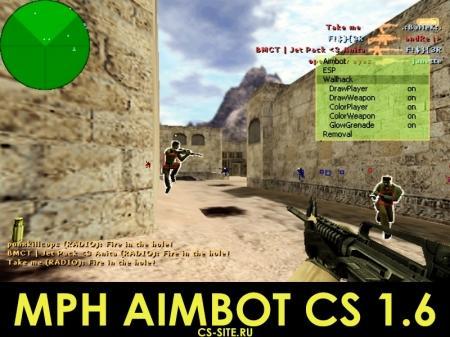 Чит «MPH Aimbot v22» для CS 1.6