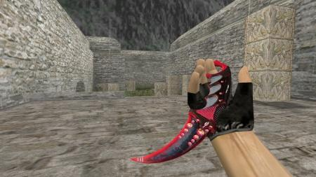 Модель ножа HD «Karambit | Dreamer Red» для CS 1.6