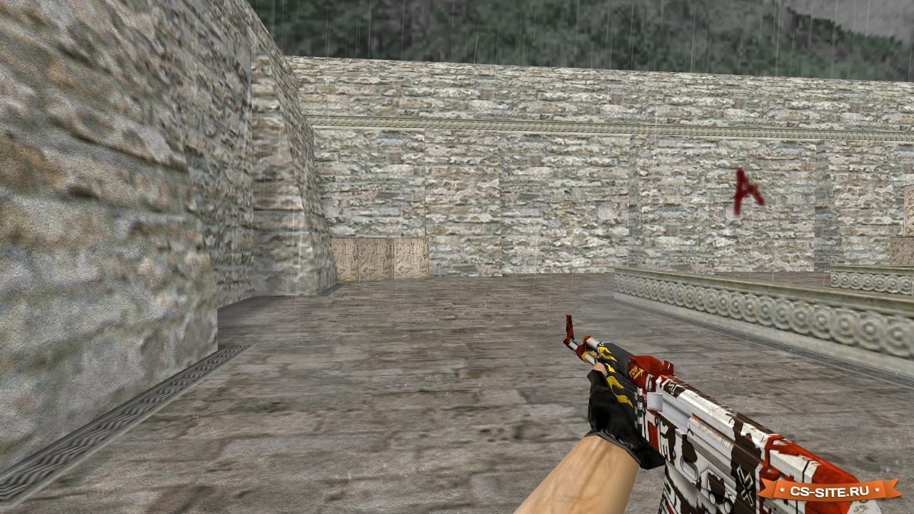 Модель hd ak-47 «bloodsport» с анимацией осмотра для cs 1. 6.