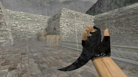 Модель ножа HD «Karambit | Black Camo» для CS 1.6