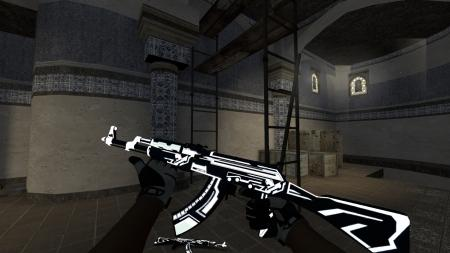 Модель AK-47 «Alien Matrix White» для CSS
