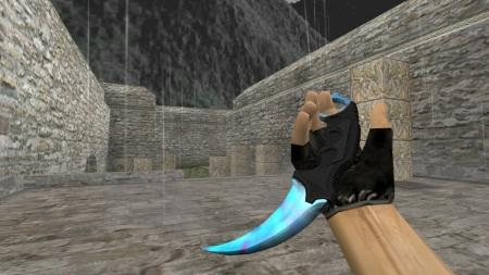 Модель ножа HD «Karambit | Case Hardened (Blue Gem)» для CS 1.6