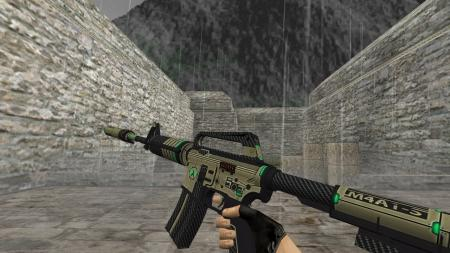 Модель HD M4A1-S «Cyber (Reworked)» для CS 1.6