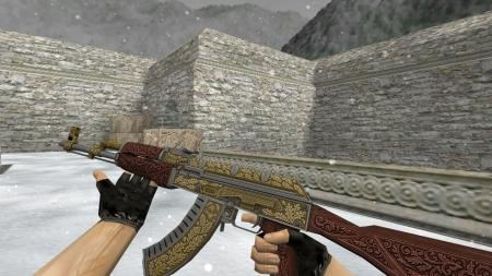 Модель HD AK-47 «Royal Platinum Gold» для CS 1.6