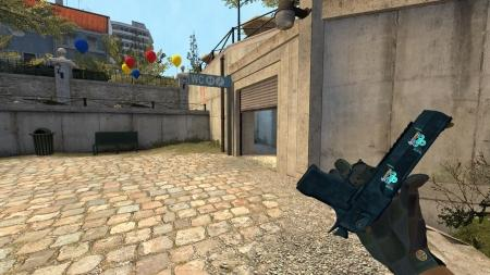 Модель Deagle «Cobalt Disruption» с наклейками для CSS