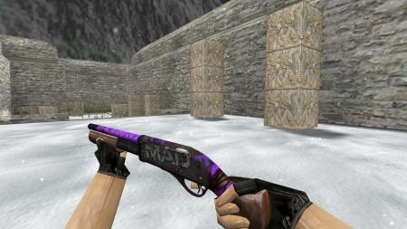 Модель HD Sawed-Off «Purple Maniac» для CS 1.6