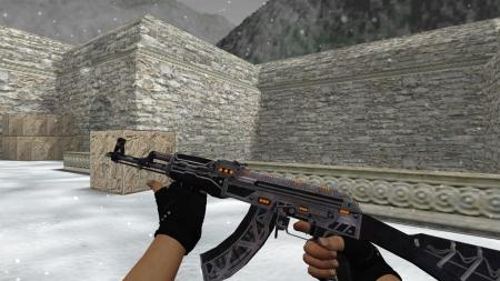 Модель HD AK-47 «Mass Driver» для CS 1.6