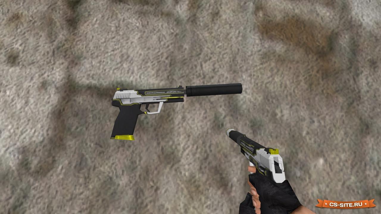 Модель hd usp «kill confirmed» с анимацией осмотра для cs 1. 6.