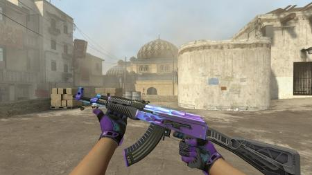 Модель AK-47 «Road Hog Purple» для CSS