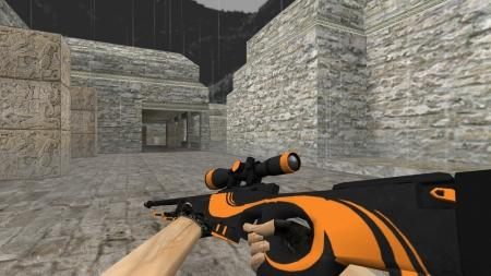 Модель HD AWP «Orange Dash» для CS 1.6