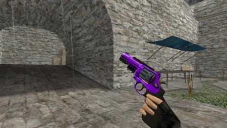 Модель HD R8 Revolver «Purple Oil» для CS 1.6
