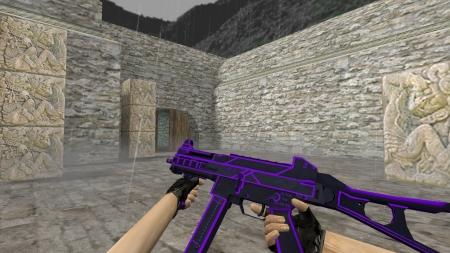 Модель HD UMP-45 «Bee Sting Purple» для CS 1.6