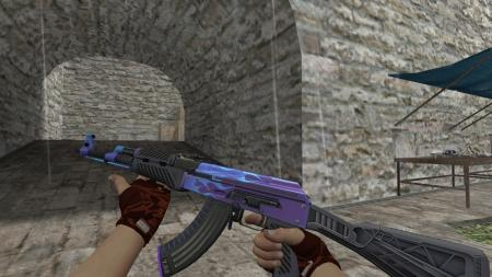 Модель HD AK-47 «Road Hog Purple» для CS 1.6